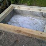 Samodzielnie wykonany basen kąpielowy