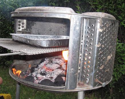 grill z bębna pralki