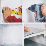 Montaż półek w warsztacie
