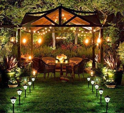 ogrod swiatlo