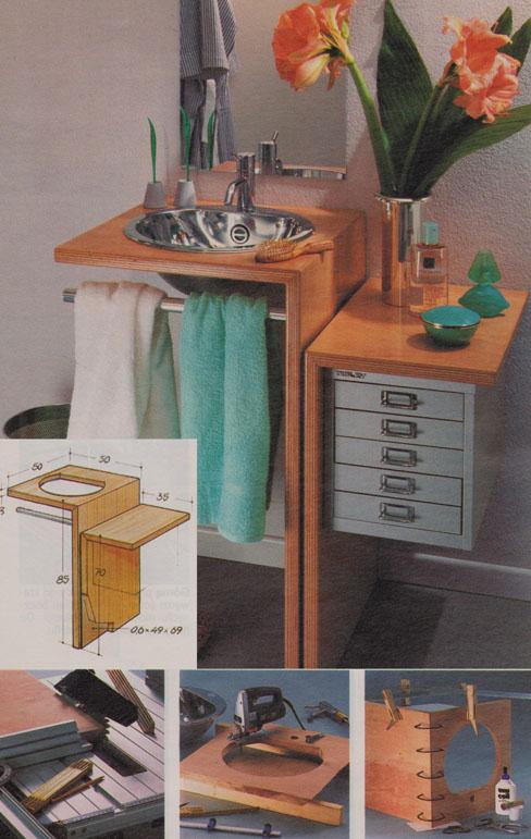 szafka przy umywalce