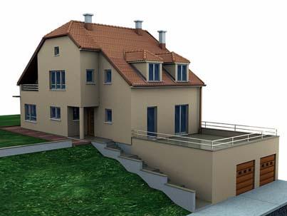 dom z garazem