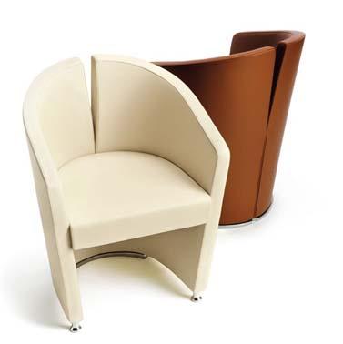 fotel polokragly